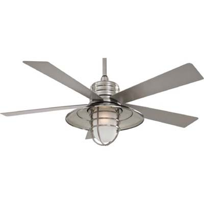 Exceptional Minka Aire® Rainman™ F582 BNW Brushed Nickel Wet Rated Outdoor Fan