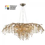Autumn Twilight 12 Light Chandelier (9903-12-MG) in the Mystic Gold finish from Golden Lighting