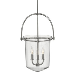 Hinkley convertible semi-flush/mini-pendant 3031PN