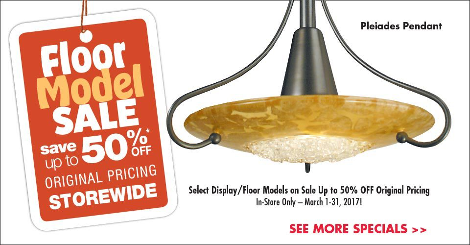Floor Model Sale – Save Up to 50%!
