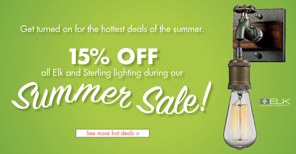 Summer Sale – 15% Off Elk and Sterling Lighting